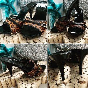 ALDO Slides Heels Pumps Open toe Animal Print 37/6